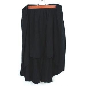 Ann Taylor LOFT Asymmetrical Black Skirt